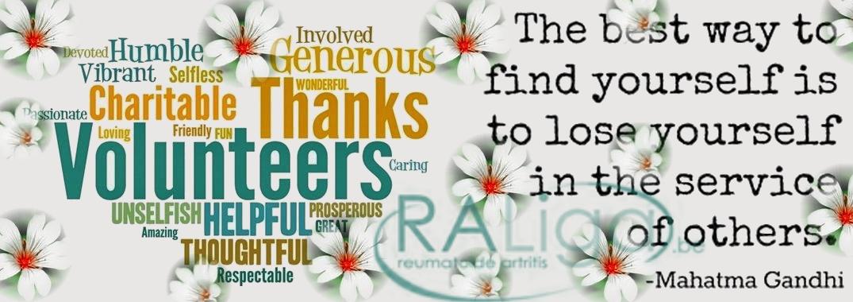 De Reumatoïde Artritis Liga vzw dankt al haar vrijwilligers!