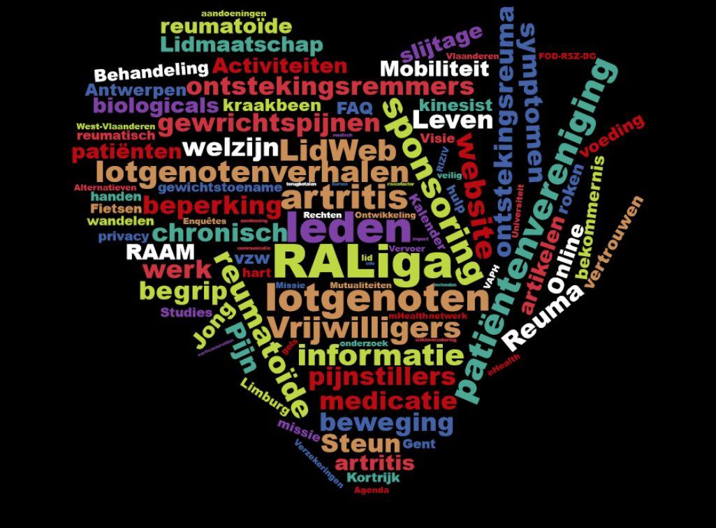 een hart voor reumatoïde artritis en RA Liga vzw